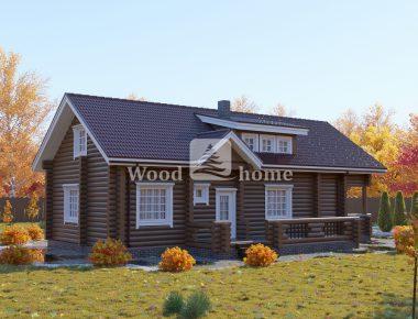 Одноэтажные дома оцилиндрованного бревна цены