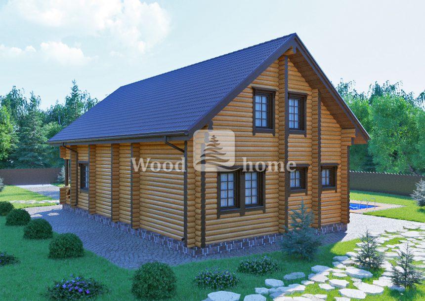 Одноэтажный дом из бревна 6х6