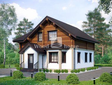 Одноэтажный комбинированный дом