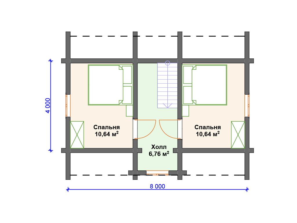План двухэтажного дома 2 этаж
