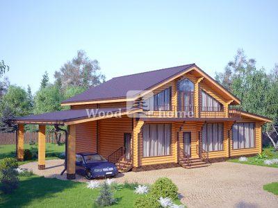 Планировка двухэтажных домов из бревна