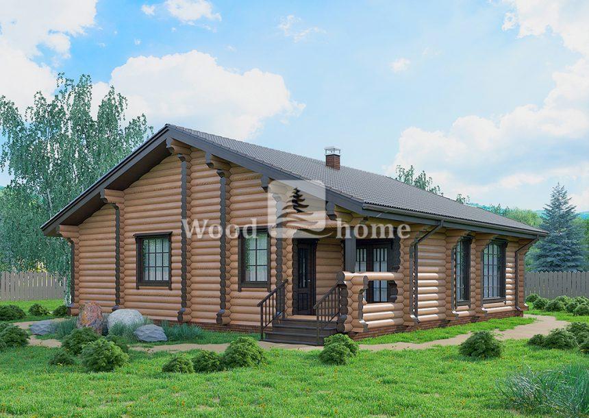 Построить дом из бревна под ключ недорого