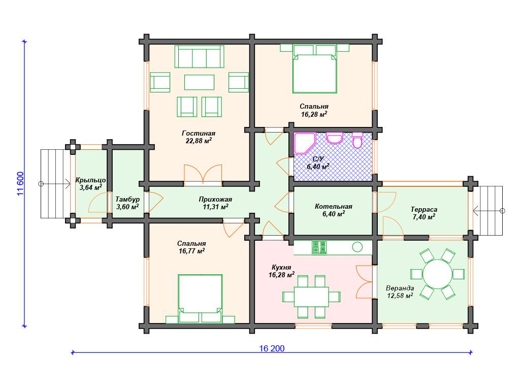 Правильный дом из бруса