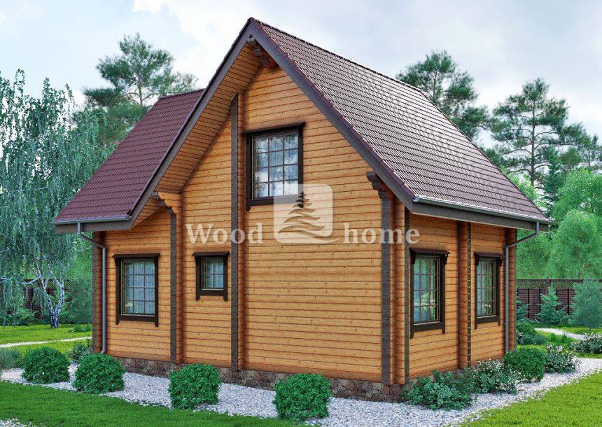 Проект дома 9 на 9 двухэтажный