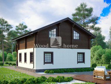 Дом с мансардой в стиле шале