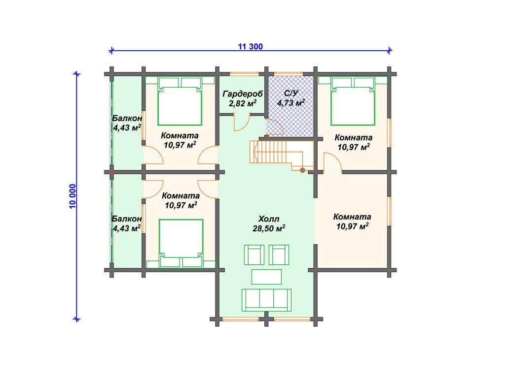 Проект дома с мансардой до 200 м2