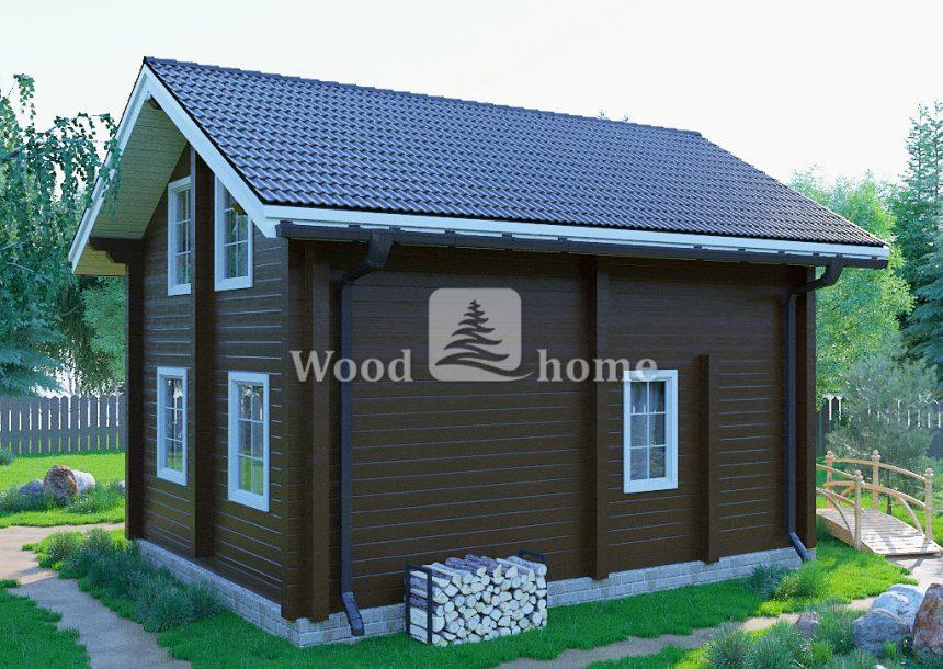 Проект двухэтажного дома с мансардой