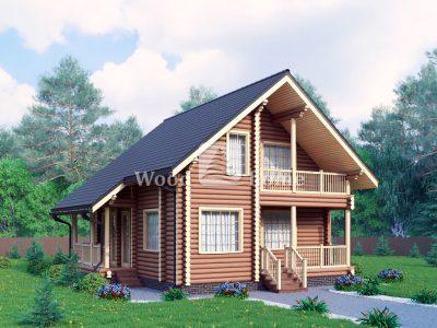 Проект одноэтажного деревянного дома из бревна