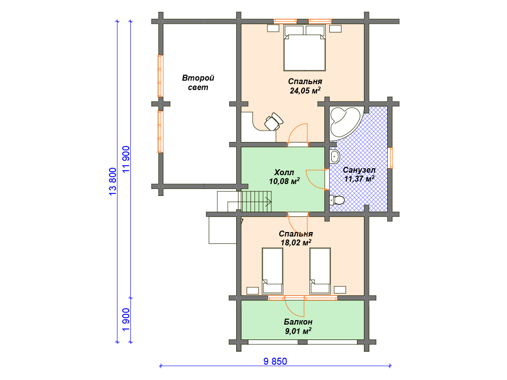 Проекты дачных домов из бревна