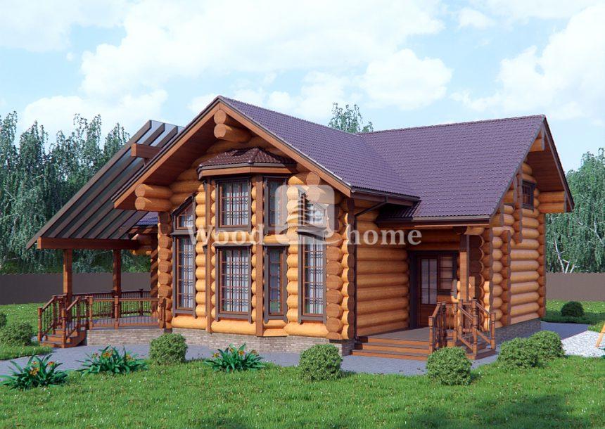 Проекты деревянных домов из оцилиндрованного бревна