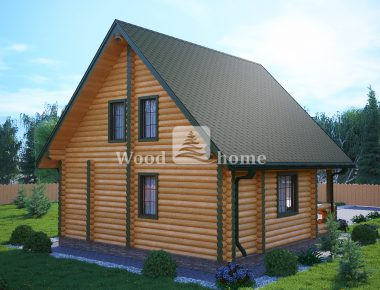 Проекты домов из бревна 150