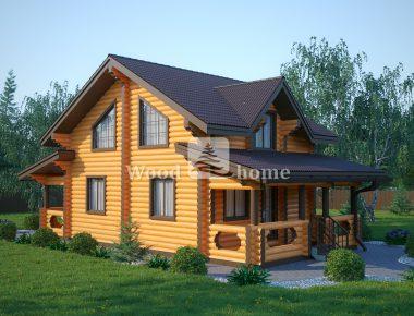 Проекты домов из бревна до 100
