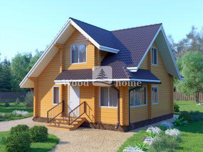 Проекты двухэтажных домов до 100 кв