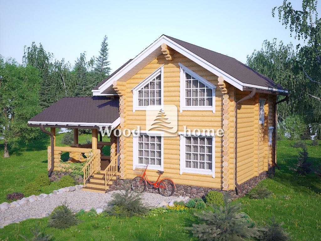 Проекты двухэтажных домов из бревна