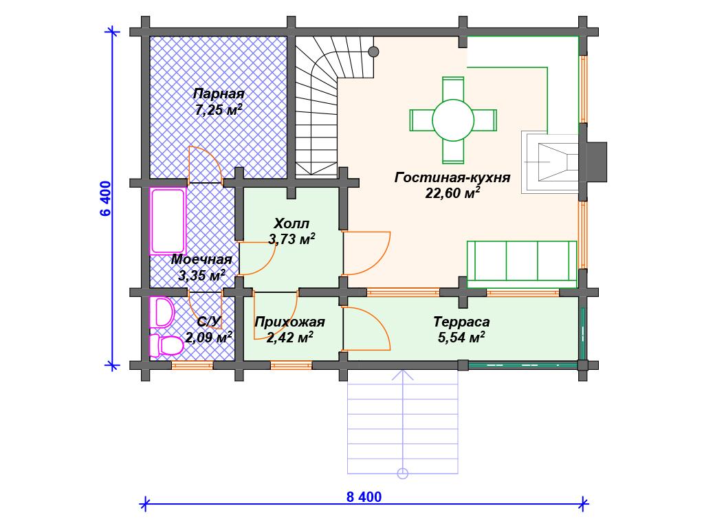 Проекты двухэтажных домов планировка