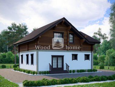 Проекты комбинированных домов в стиле1
