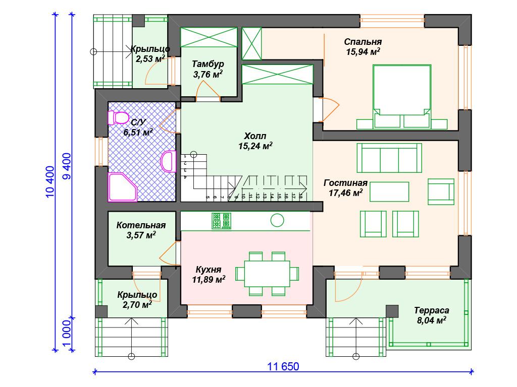Проекты комбинированных домов в стиле