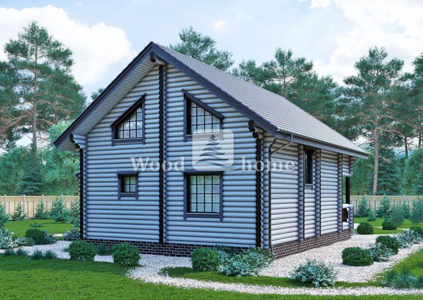 Проекты красивых домов из бревна