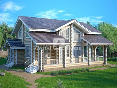 Проекты одноэтажных домов из бревна до 100