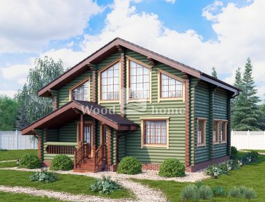 Простой дом из бревна