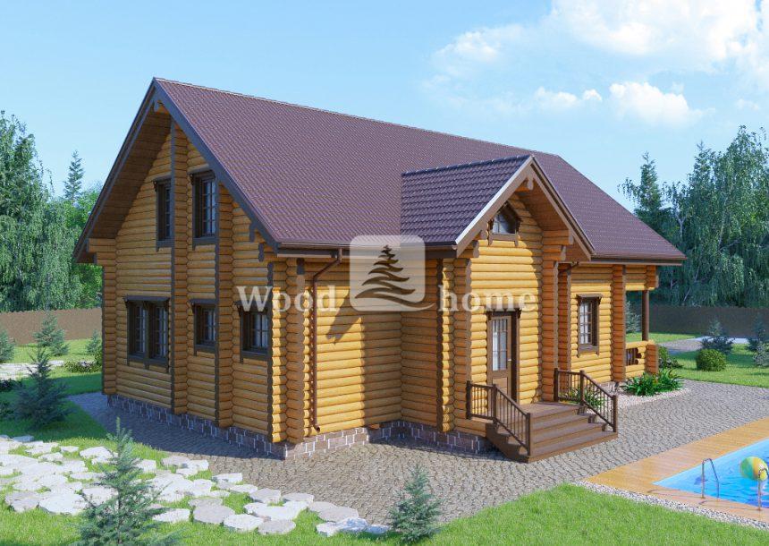 Современные дома из бревна фото