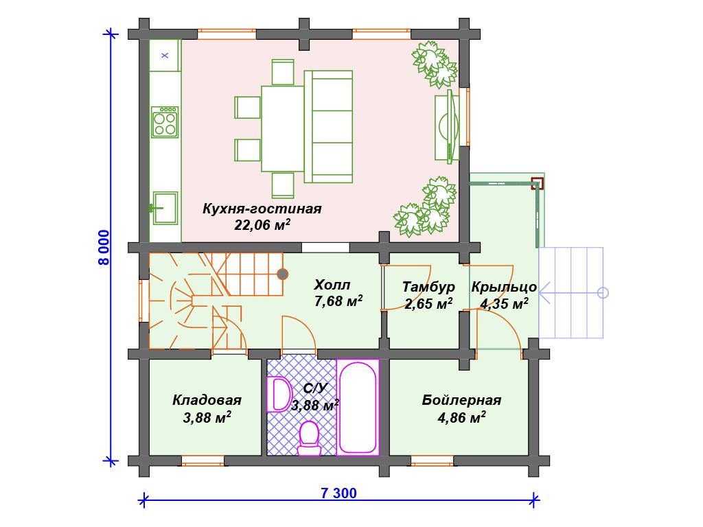 современные двухэтажные дома