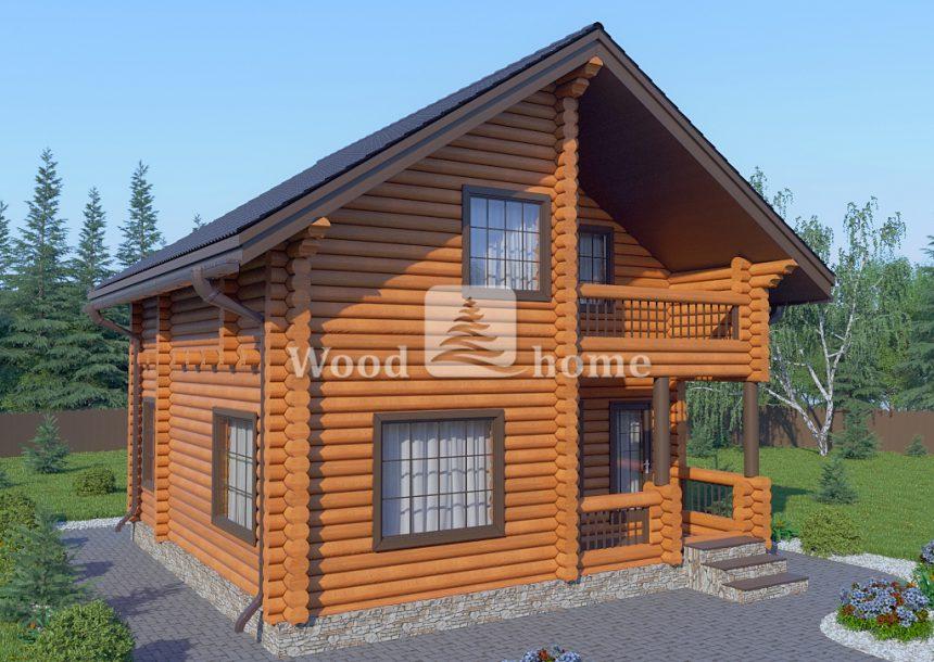 Современный дом из бревна