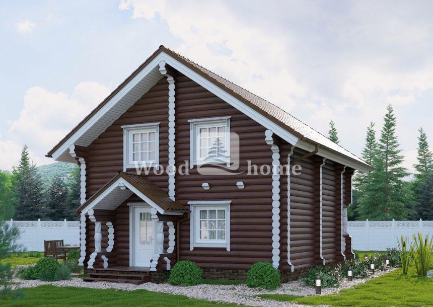 Срубы домов из бревна фото