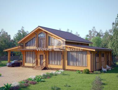 Строительство дома бани из бревна