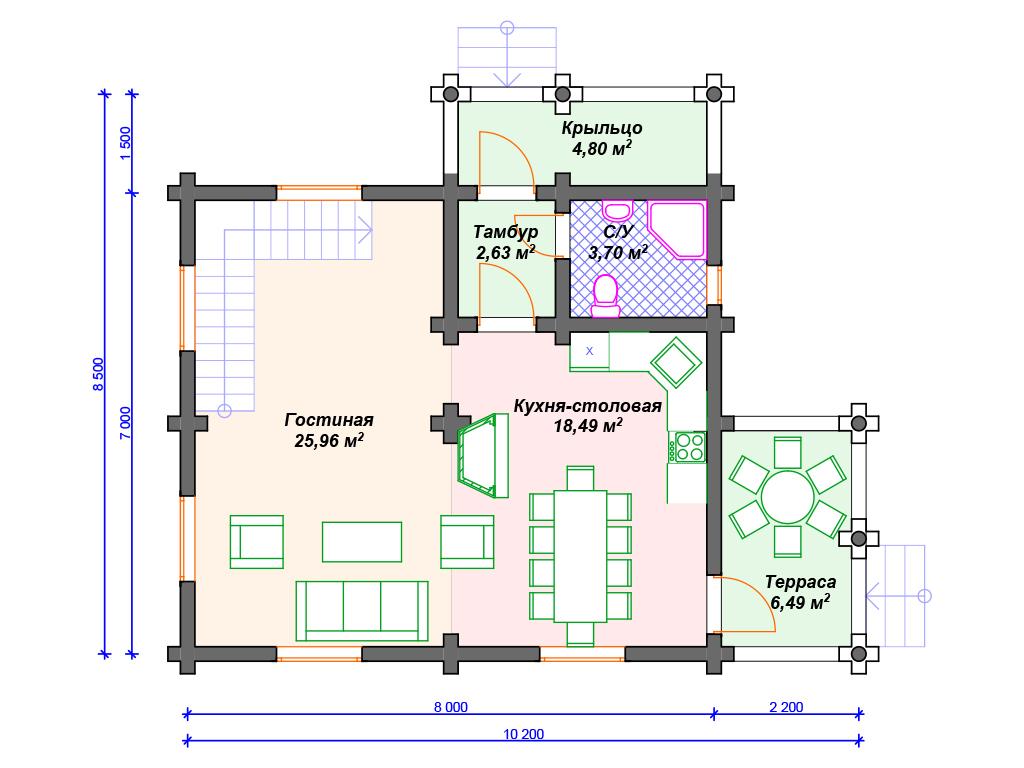 Строительство домов бревна под ключ цены