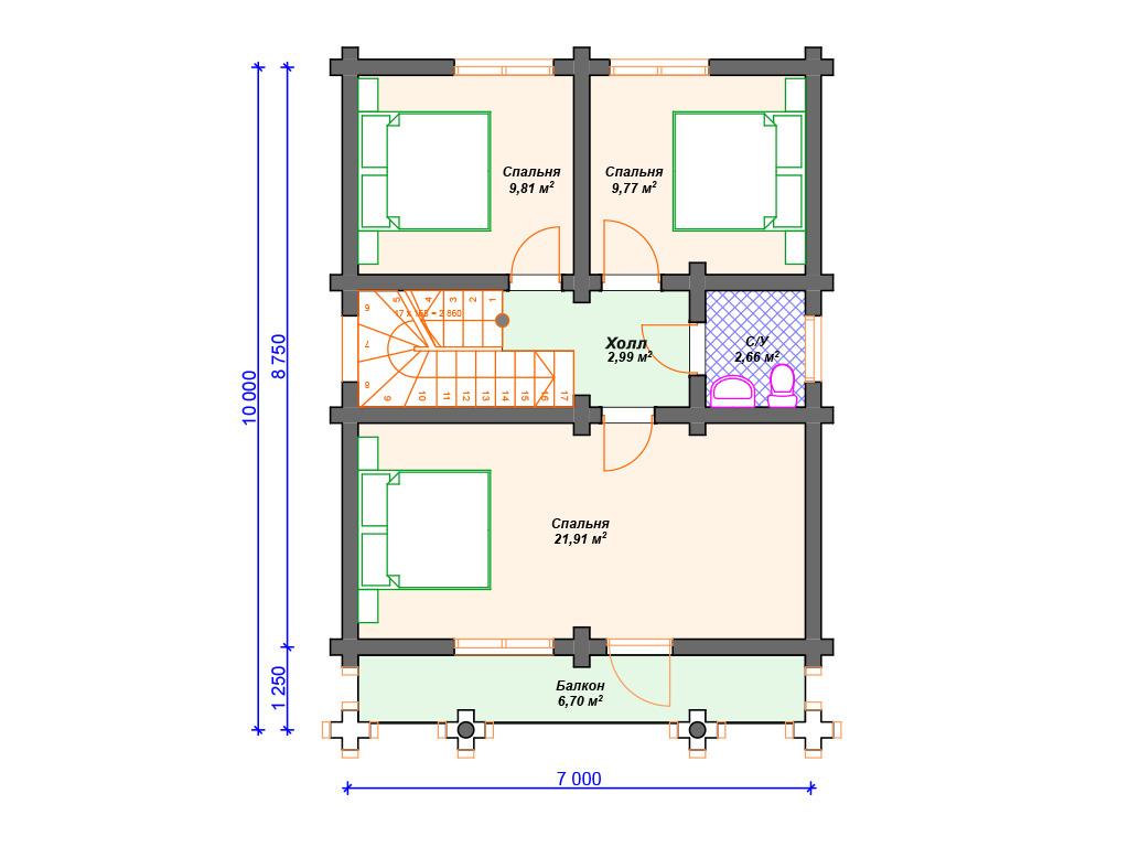 Строительство домов из бревна под ключ проекты
