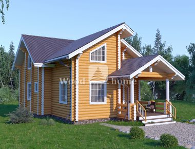 Строительство домов из оцилиндрованного бревна под ключ
