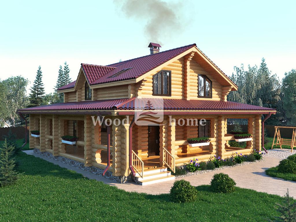 Светлый дом из бревна