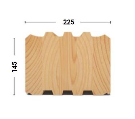 клееный брус 145х225