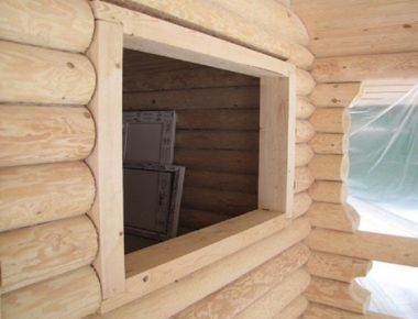 крепкие обсадные коробки в доме из бревна