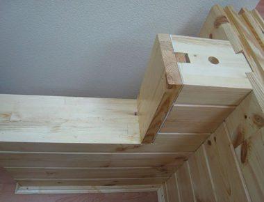 установка деревянного окна обсаду