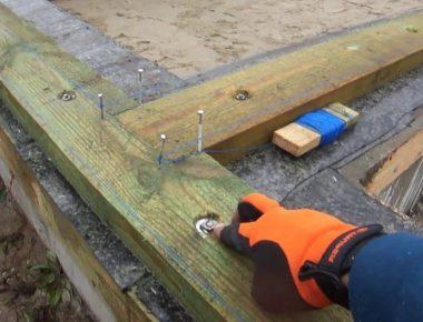 устройство подкладочной доски на фундамент