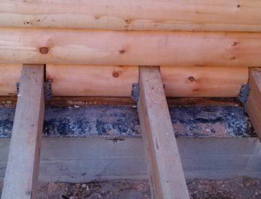 врезка балок перекрытий в бревенчатом доме