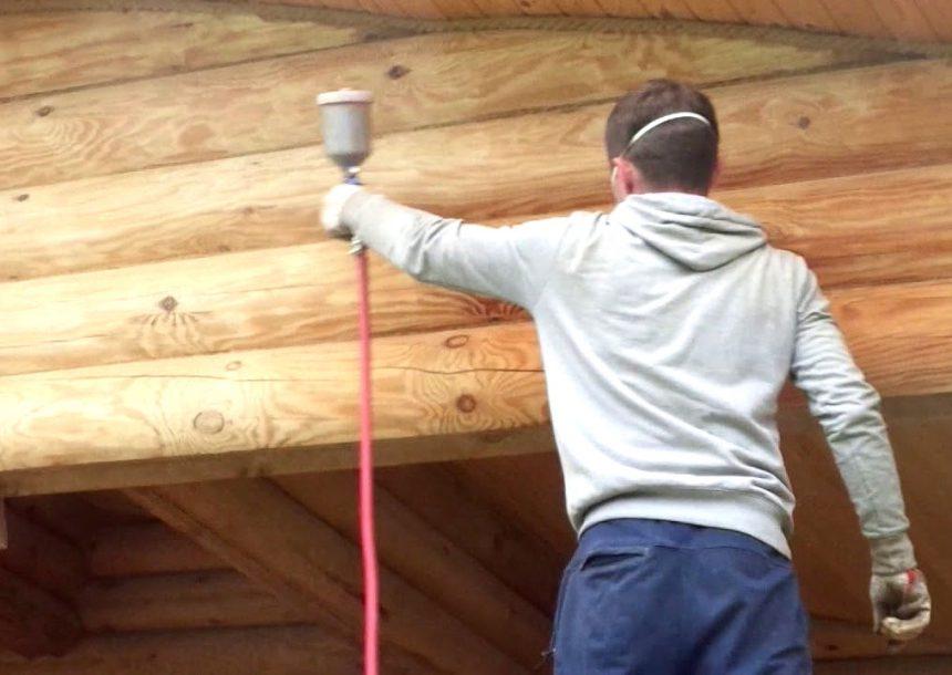 антисептирование деревянного дома